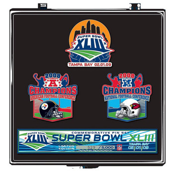 Super Bowl XLIII (43) Steelers vs. Arizona Cardinals Dueling Pin Set - Limited 5,000