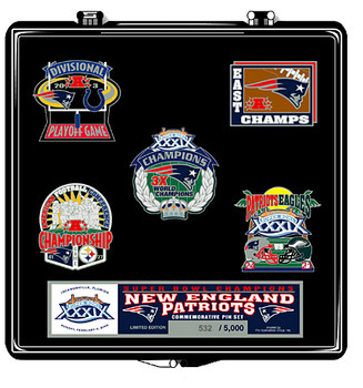 Super Bowl XXXIX (39)  New England Patriots Champs Pin Set - Limited 5,000