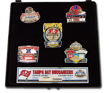 Super Bowl XXXVII (37) Tampa Bay Buccaneers Champs Pin Set - Limited 5,000
