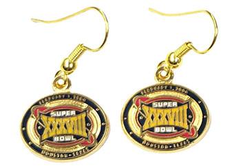 Super Bowl XXXVIII (38) Earrings