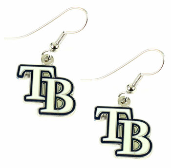 Tampa Bay Rays Dangle TB Logo Earrings