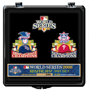 Tampa Bay Rays vs. Philadelphia Phillies 2008 World Series Dueling Pin Set - Limited 5,000