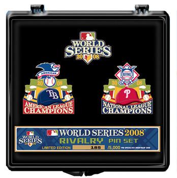 Tampa Bay Rays vs. Philadelphia Phillies 2008 World Series Dueling Pin Set - Limited 5,000