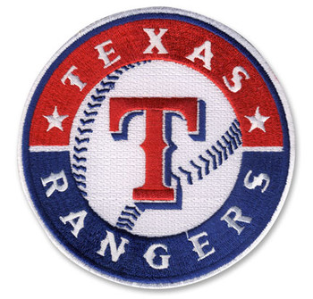 Texas Rangers Embroidered Emblem Logo Patch – 4""