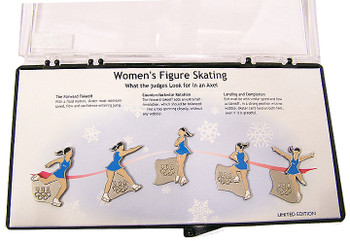 Torino 2006 Olympics Figure Skating Pin Set - Limited 2,006