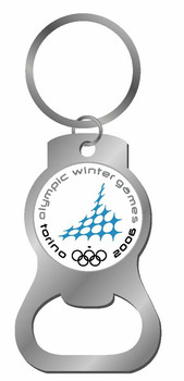 Torino 2006 Olympics Bottle Opener Key Chain