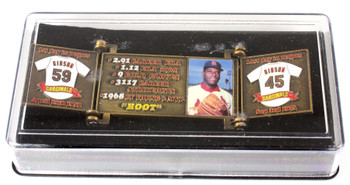 Bob Gibson Hall of Fame Career Pin - Limited Edition 1,981