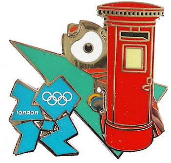 London 2012 Olympics Wenlock Postal Box Pin