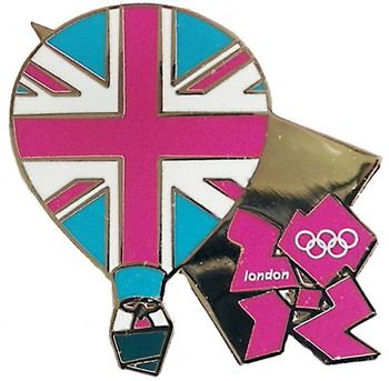 London 2012 Olympics Hot Air Balloon Pin