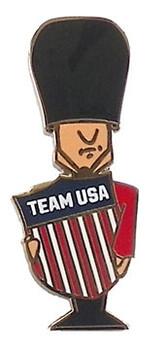 London 2012 Team USA Crest Palace Guard Pin