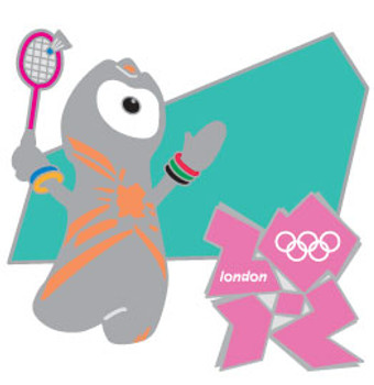 London 2012 Olympics Wenlock Badminton Pin