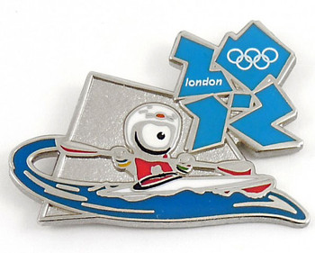 London 2012 Olympics Wenlock Canoe Slalom Pin