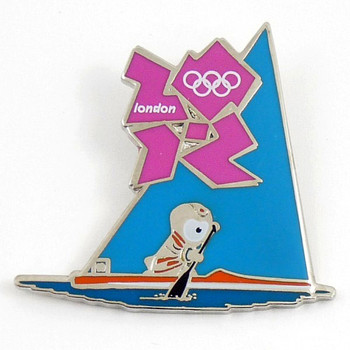 London 2012 Olympics Wenlock Canoe Sprint Pin