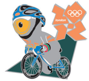 London 2012 Olympics Wenlock Road Cycling Pin