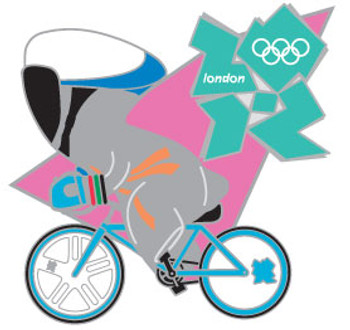 London 2012 Olympics Wenlock Track Cycling Pin