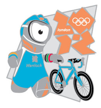 London 2012 Olympics Wenlock Triathlon Pin