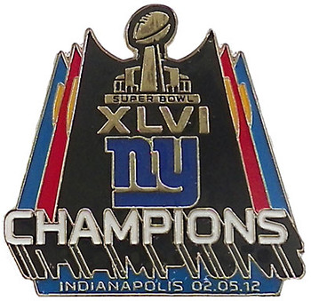 New York Giants Super Bowl XLVI Champions Pin - PSG