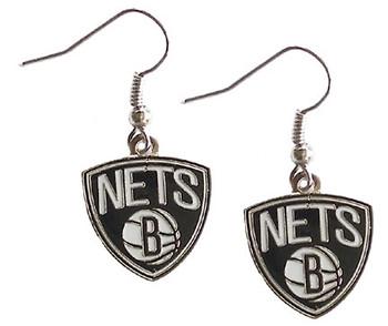 Brooklyn Nets Logo Earrings