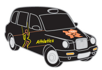 London 2012 Olympics Athletics Taxi Pin