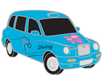 London 2012 Olympics Diving Taxi Pin