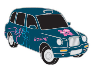 London 2012 Olympics Boxing Taxi Pin