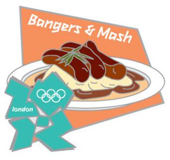 London 2012 Olympics Bangers & Mash Pin