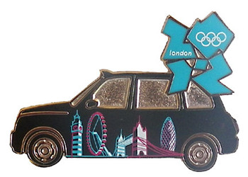 London 2012 Olympics Skyline Taxi Pin