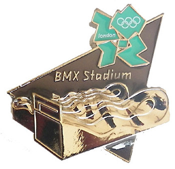 London 2012 Olympics BMX Stadium Pin
