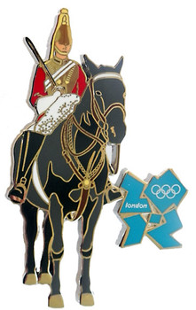 London 2012 Olympics Mounted Guard Pin - Oversized