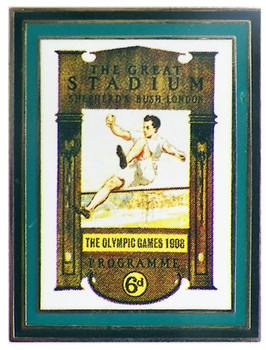London 1908 Olympics Poster Pin