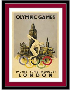 London 1948 Olympics Poster Pin