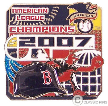 Boston Red Sox 2007 AL Champs Pin - Design #1