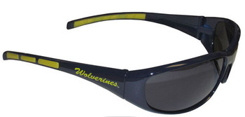 Michigan Wolverines Sunglasses - Wrap Style