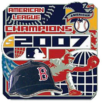Boston Red Sox 2007 American League Champs Pin