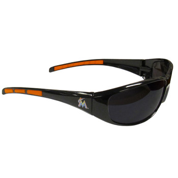 Miami Marlins Sunglasses - Wrap Style