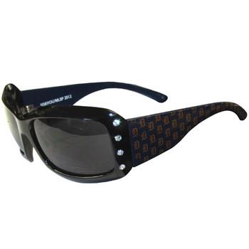 Detroit Tigers Women's Designer Sunglasses w/ Rhinestones