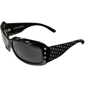 Chicago White Sox Women's Designer Sunglasses w/ Rhinestones