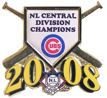 Chicago Cubs 2008 Division Champs Pin