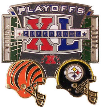 Cincinnati Bengals vs Steelers 2006 Playoffs Pin