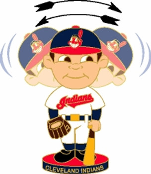 Cleveland Indians Bobbing Head Pin