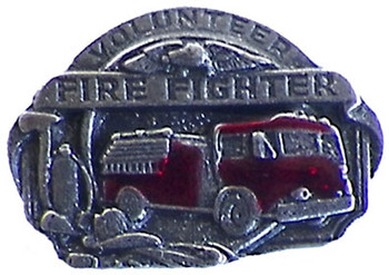 Volunteer Fireman Pin - Pewter