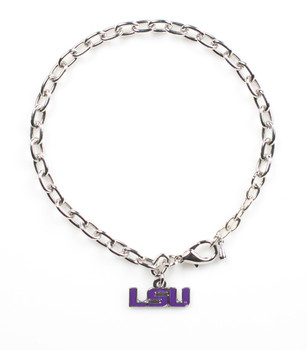 Louisiana State University Logo Bracelet