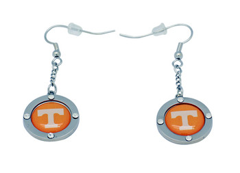 Tennessee Team Circle Crystal Earrings