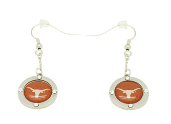 Texas Crystal Logo Earrings