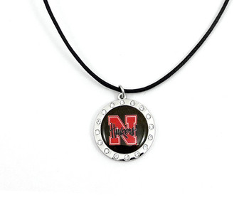 Nebraska Crystal Circle Necklace