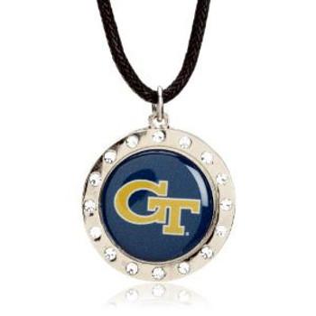 Georgia Tech Crystal Circle Necklace