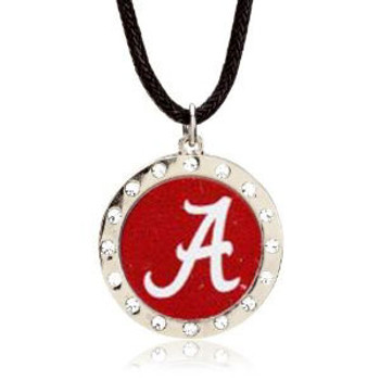 "Alabama ""A"" Crystal Circle Necklace"
