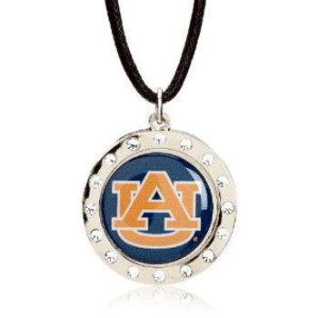 Auburn Crystal Circle Necklace