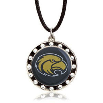 Southern Mississippi Crystal Circle Necklace (Nm)