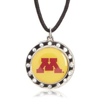 Minnesota Gophers Crystal Circle Necklace